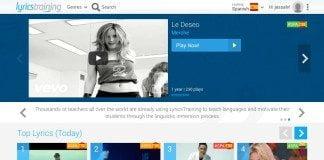 Lyricstraining - aplikacja do nauki hiszpańskiego i katalońskiego przy pomocy teledysków! // Hispanico.pl