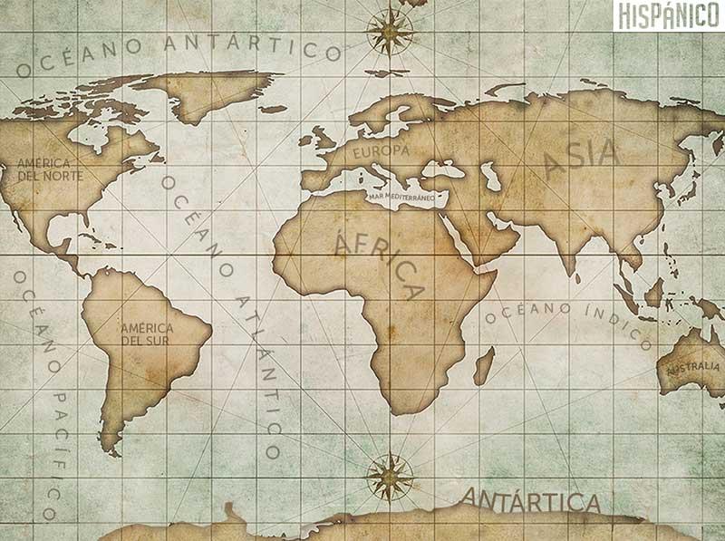 Hiszpańska Tapeta na pulpit - Mapa Świata // Hispanico.pl