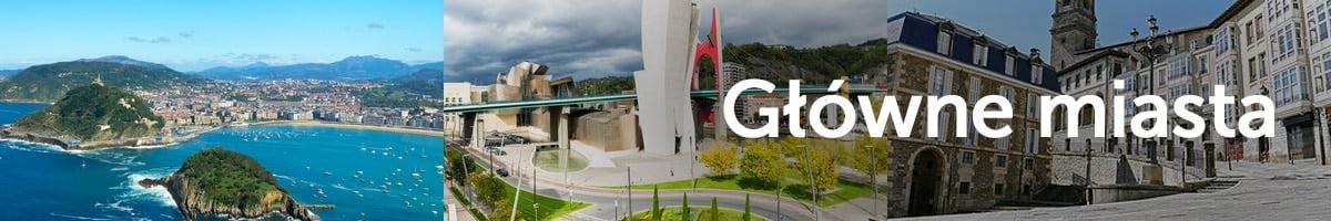 Główne miasta Kraju Basków