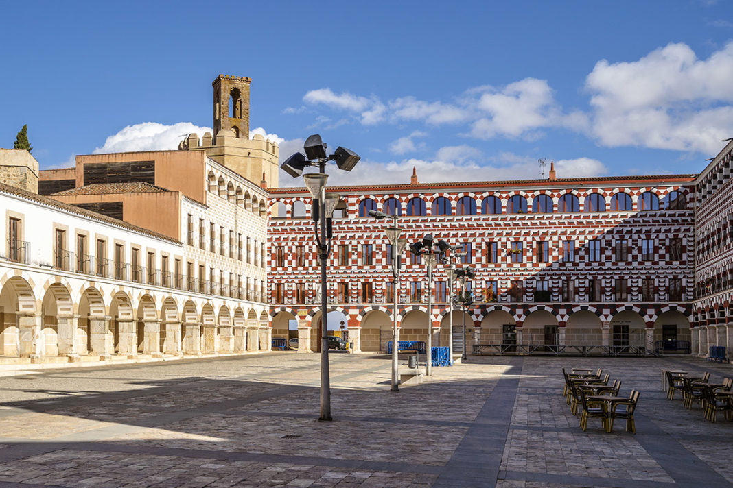 Plaza Alta, fragment starego miasta Badajoz