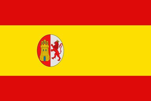 Flaga I Republiki Hiszpanii (1873-1874 r.) // Hispanico.pl