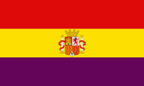 Flaga II Republiki Hiszpanii (1931-1939 r.) // Hispanico.pl