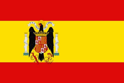 Flaga używana przez opozycję władzy Hiszpanii (2 lutego 1938 - 1 kwietnia 1939 r.) // Hispanico.pl