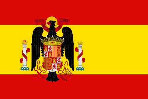 Flaga Hiszpanii podczas rządów generała Franco (11 października 1945 - 21 stycznia 1977 r.) // Hispanico.pl