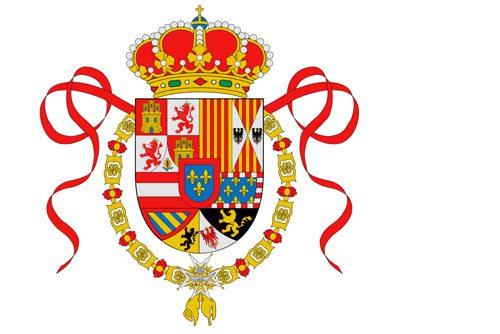 Flaga morska Hiszpanii (1701-1760 r.) // Hispanico.pl