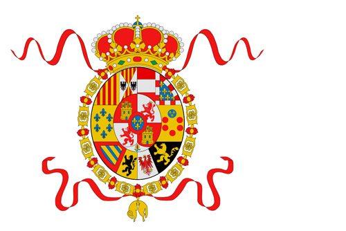 Flaga morska Hiszpanii (1701-1785 r.) // Hispanico.pl