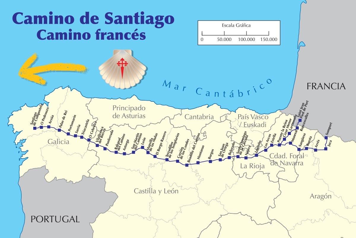 Camino Francés to najpopularniejsza trasa pielgrzymkowa Szlakiem św. Jakuba