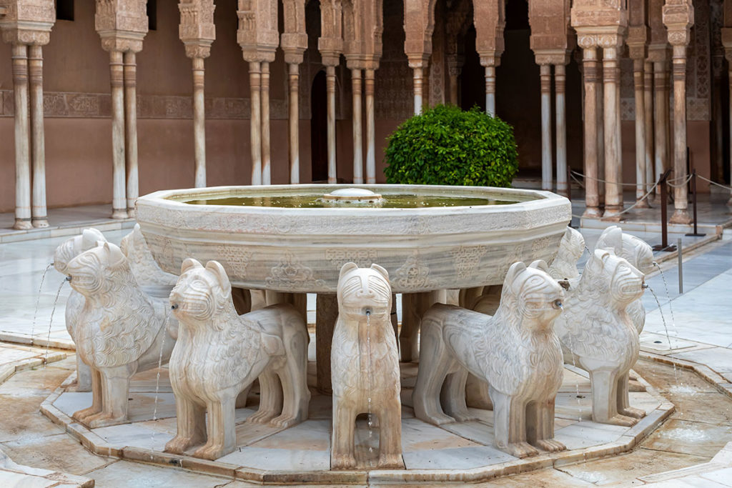 Patio de los Leones - Alhambra, Granada(Hiszpania)