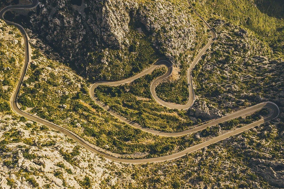 Serpentyna prowadząca do Sa Calobra