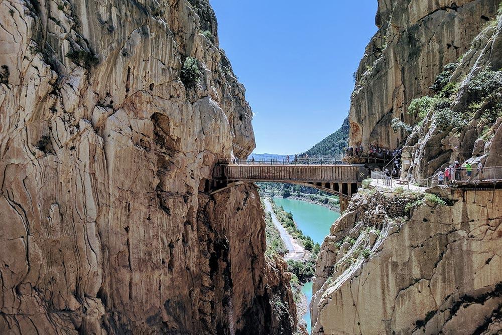 Caminito del Rey (Ścieżka Króla) w pobliżu Ardales