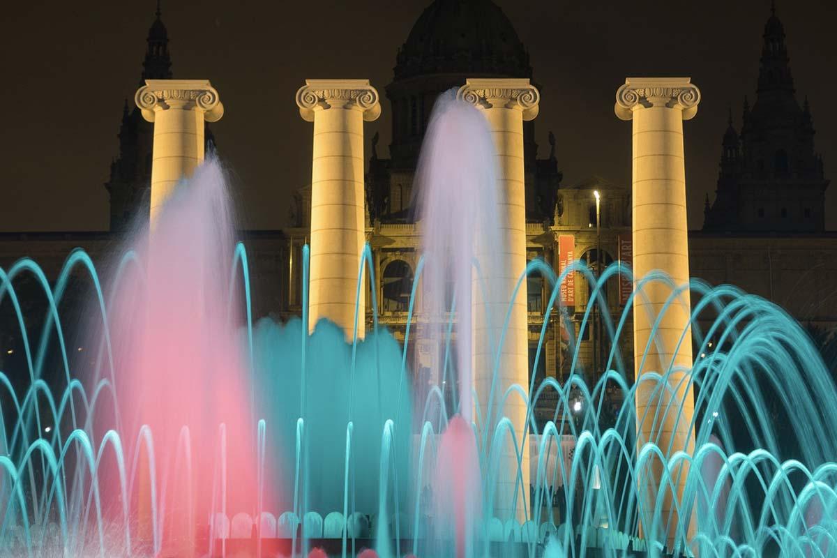 Magiczne Fontanny w Barcelonie