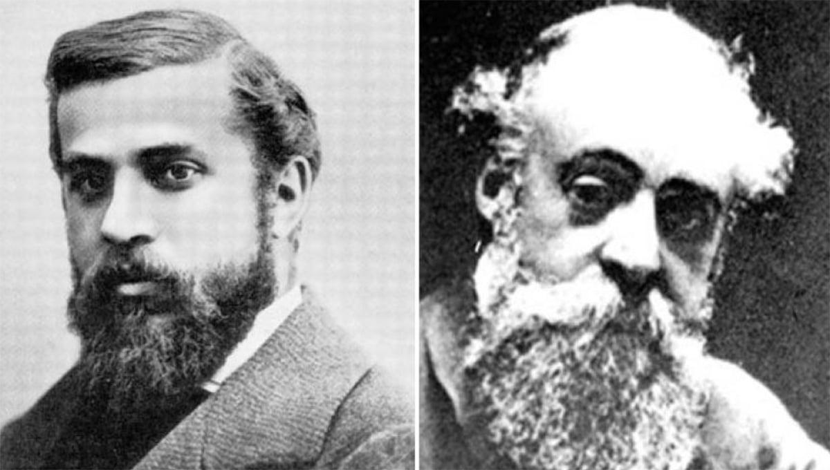 Antonio Gaudí (po lewej) i Eusebi Güell (po prawej)