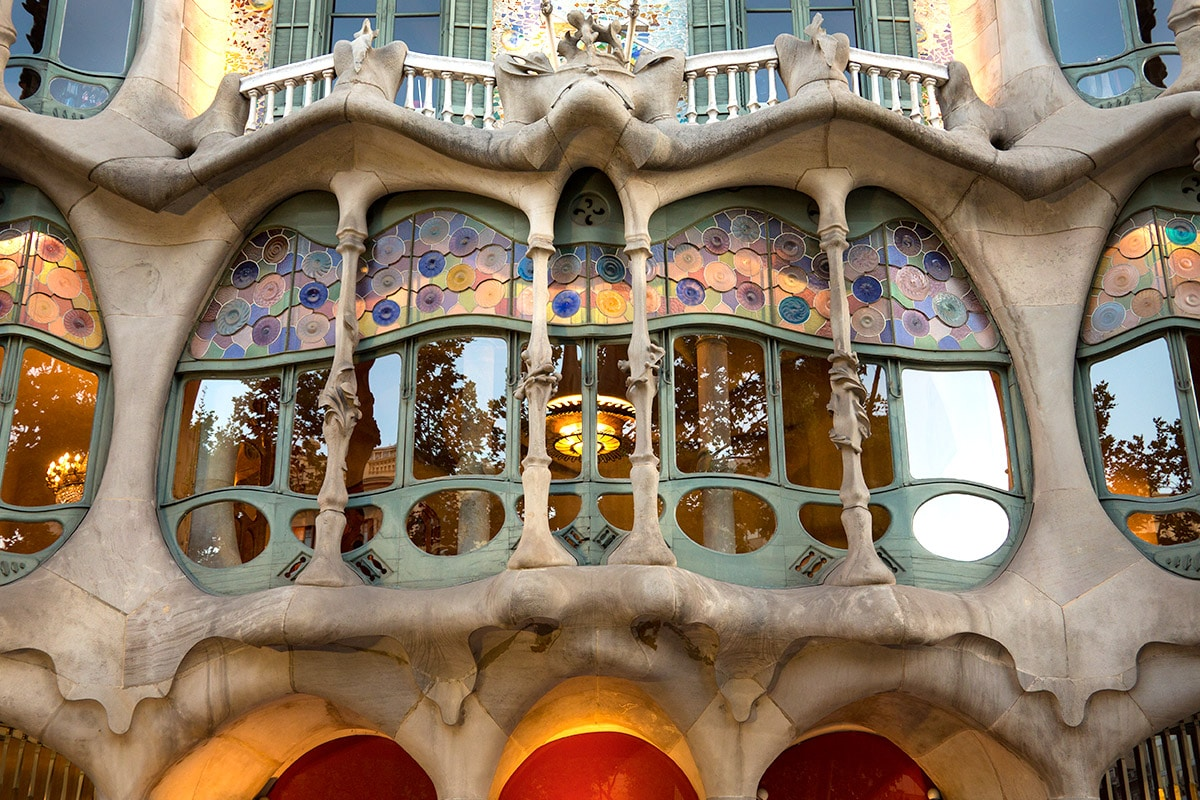 Fragment fasady Casa Batlló