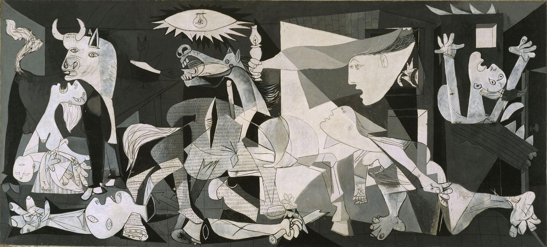 """""""Guernica"""" Pablo Picasso (Museo Nacional Centro de Arte Reina Sofía, Madryt)"""