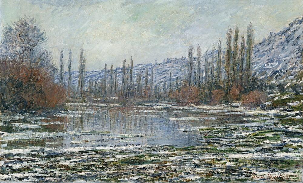 """""""Odwilż w Vetheuil"""" Claude Monet - obraz w kolekcji Muzeum Thyssen-Bornemisza"""