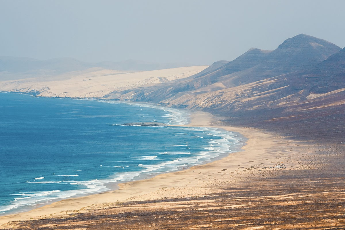 Plaża Cofete to idealne miejsce dla osób ceniących spokój. Fuerteventura (Półwysep Jandía)