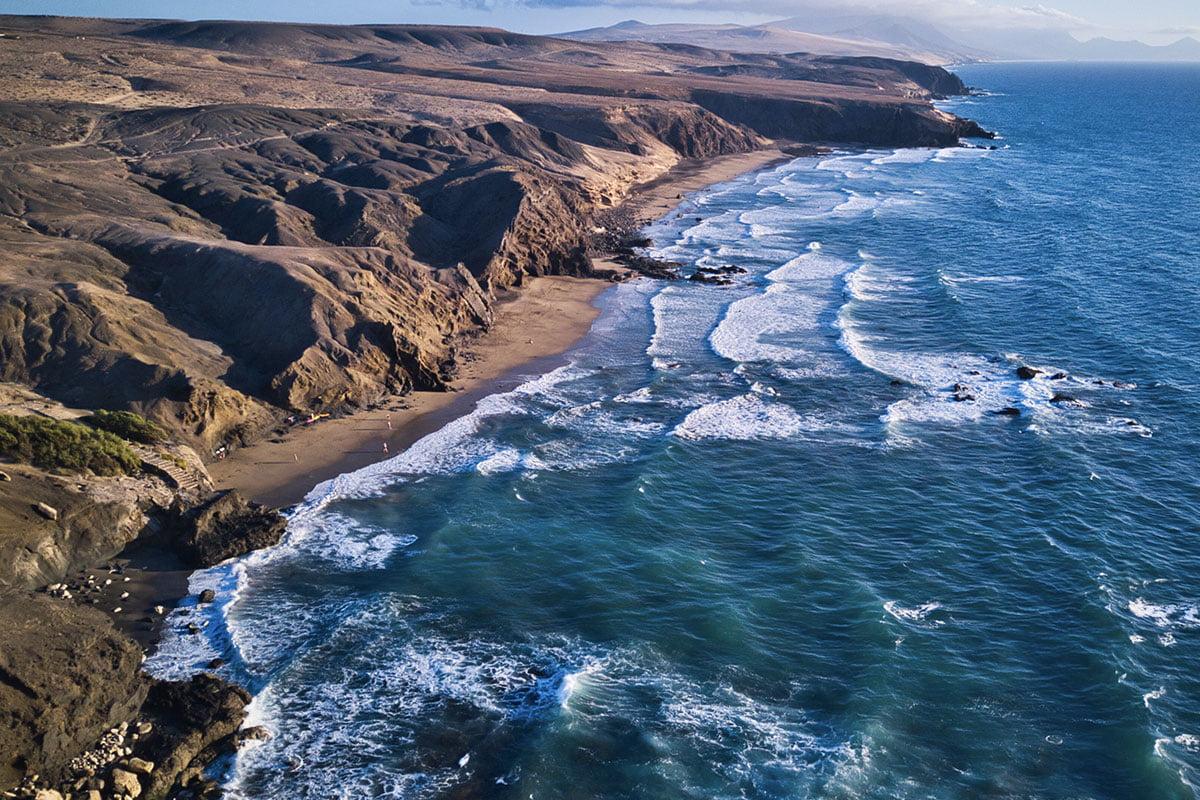 Plaża La Pared na Fuerteventurze (Playa de la Pared)