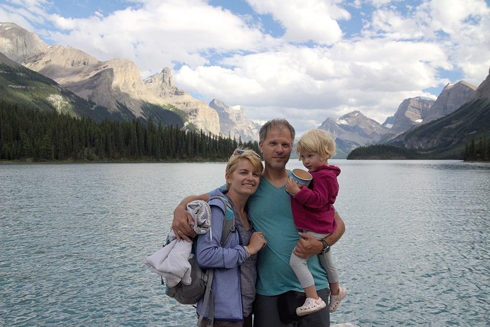 Liliana Poszumska, Arkadiusz Wójcik i ich córeczka podczas wspólnej podróży