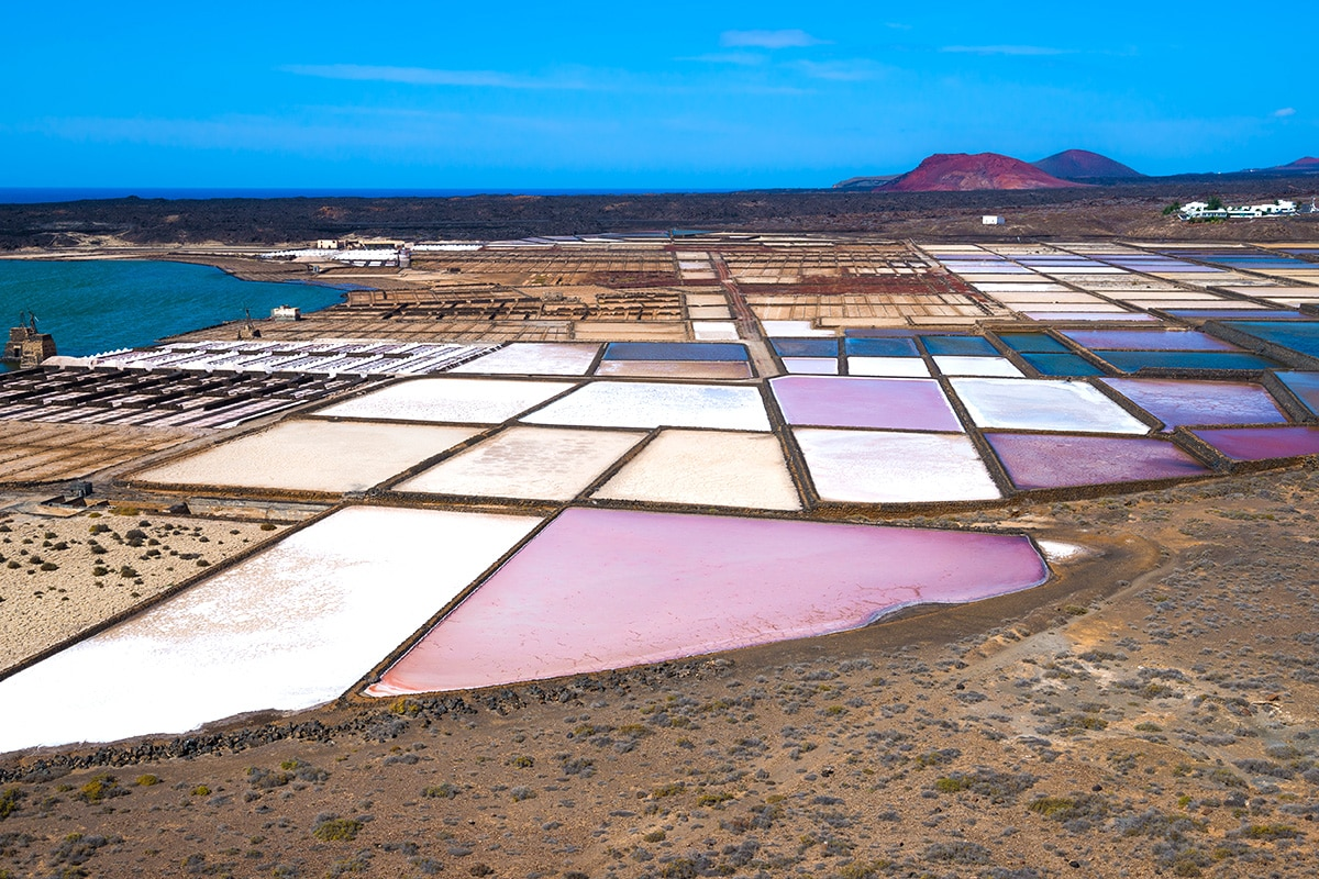 Salinas de Janubio - Kolorowe saliny na Lanzarote