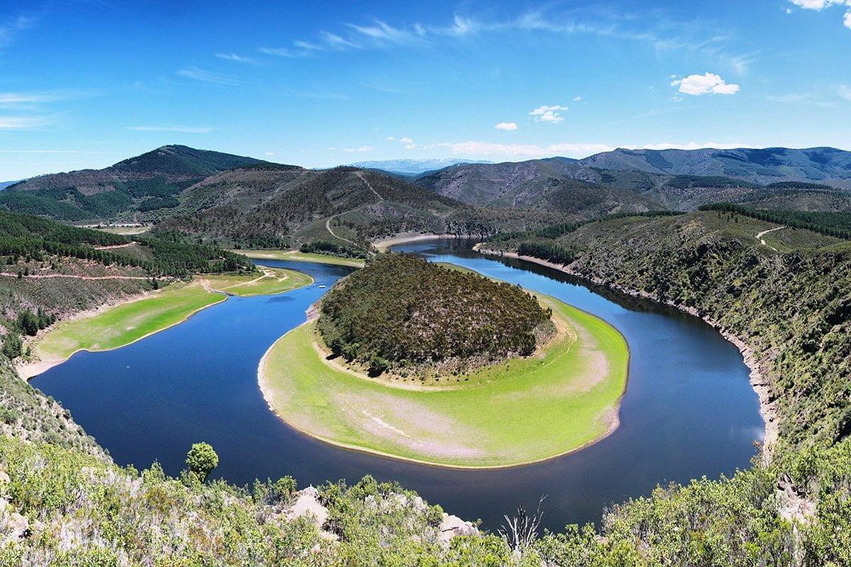 Meandro del Melero - Meander tworzony przez rzekę Alagón