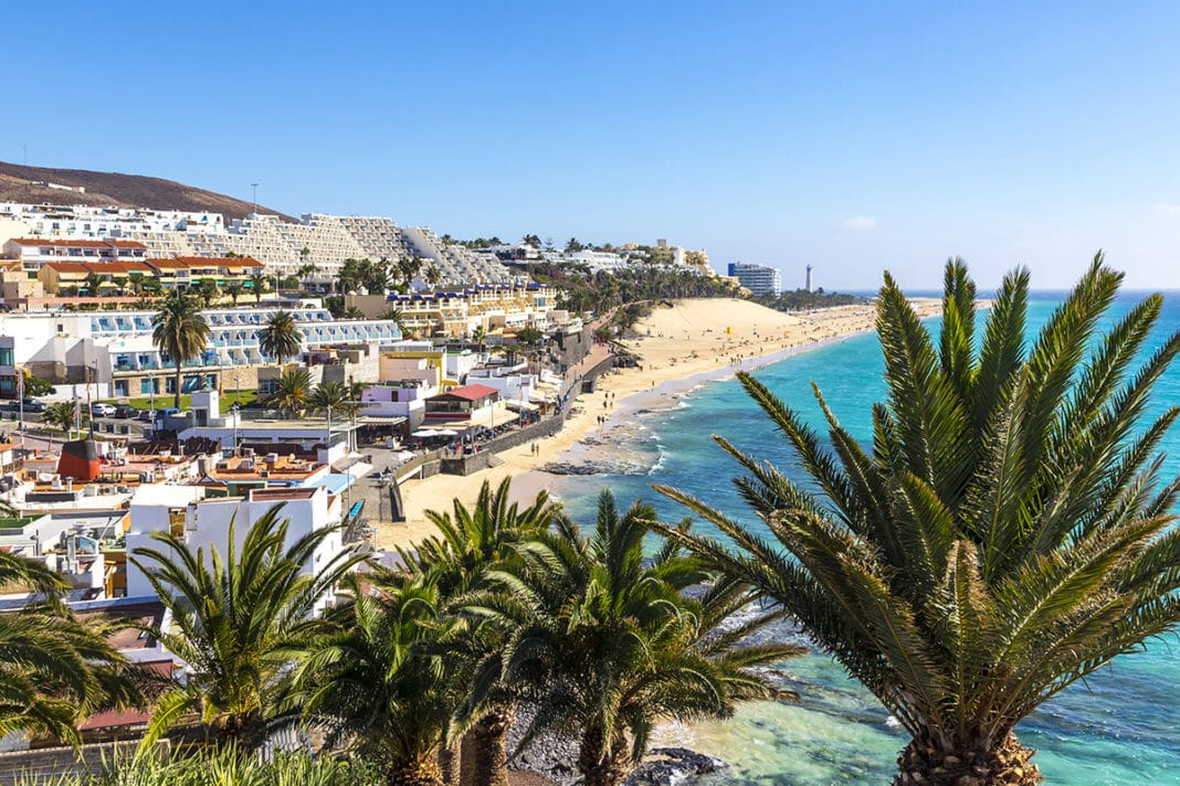 Plaża Morro Jable na Fuerteventurze